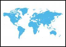 Maailmankartta Sininen Juliste