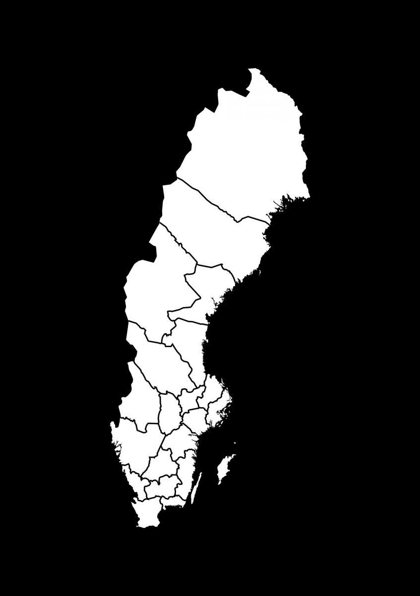 Ruotsin Kartta Valkoinen Bga Fi