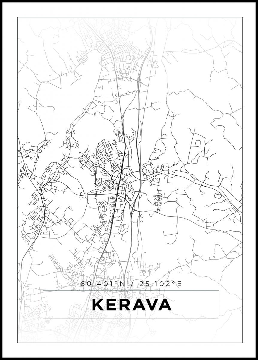 Kartta Kerava Valkoinen Bga Fi