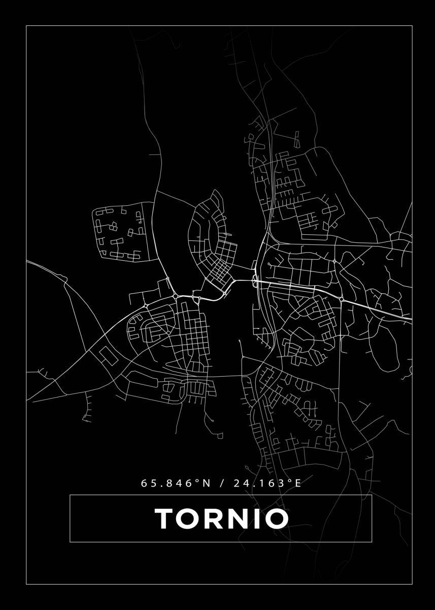 Kartta Tornio Musta Bga Fi