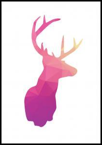 Deer - Pink Juliste