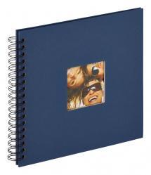 Fun Kierrealbumi Sininen - 26x25 cm (40 Mustaa sivua / 20 lehteä)