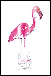 Be a flamingo Juliste