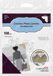 3L Creative Photo Corners Ruskea - 108 kpl
