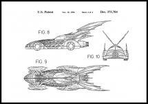 Patentti piirustus - Batman - Batmobile 1996 IIII Juliste