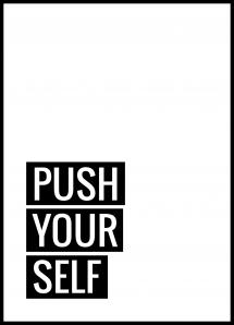 Push Yourself Juliste