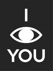 I see you - Musta pohja valkoisella painatuksella Juliste