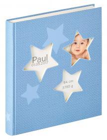 Estrella Vauva Sininen - 28x30,5 cm (50 Valkoista sivua / 25 lehteä)