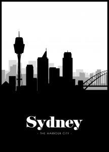 Sydney Skyline Juliste