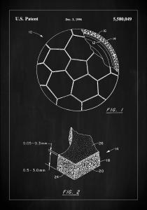 Patent Print - Football - Black Juliste