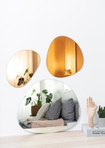 Peili Set Orange, Rose Gold & Clear - 3 st