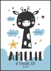 Baby giraffe - Blue