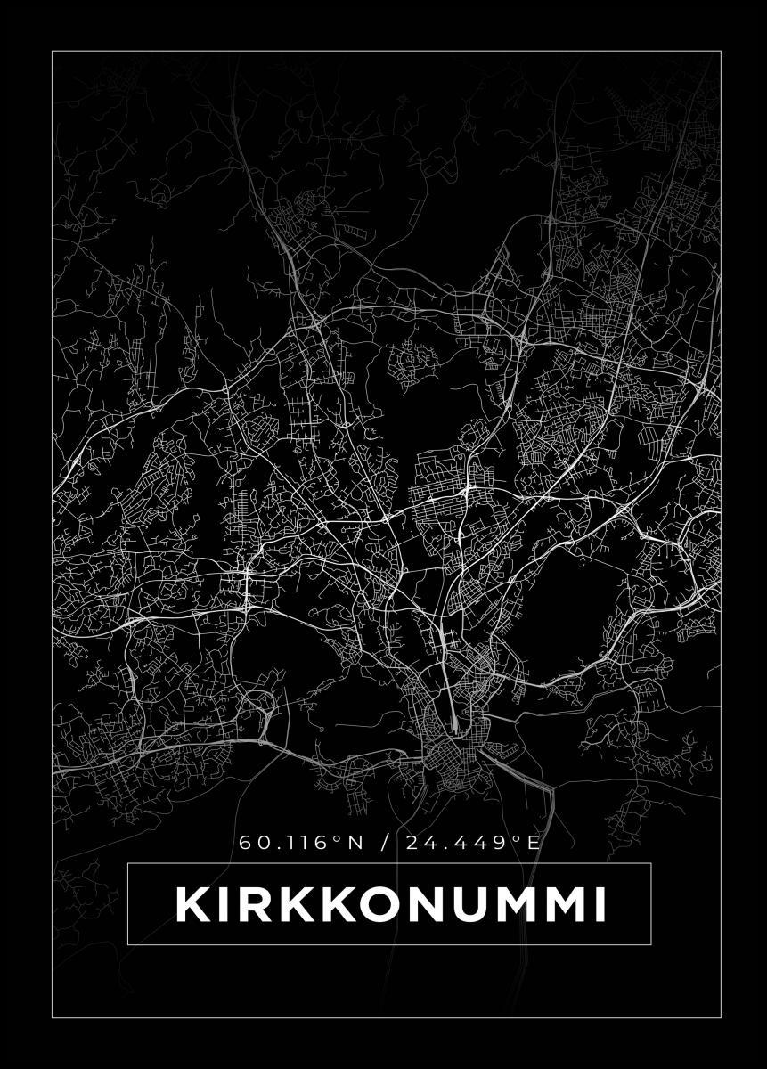 Kartta Kirkkonummi Musta Bga Fi