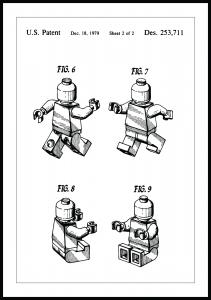 Patentti Piirustus - Lego II Juliste