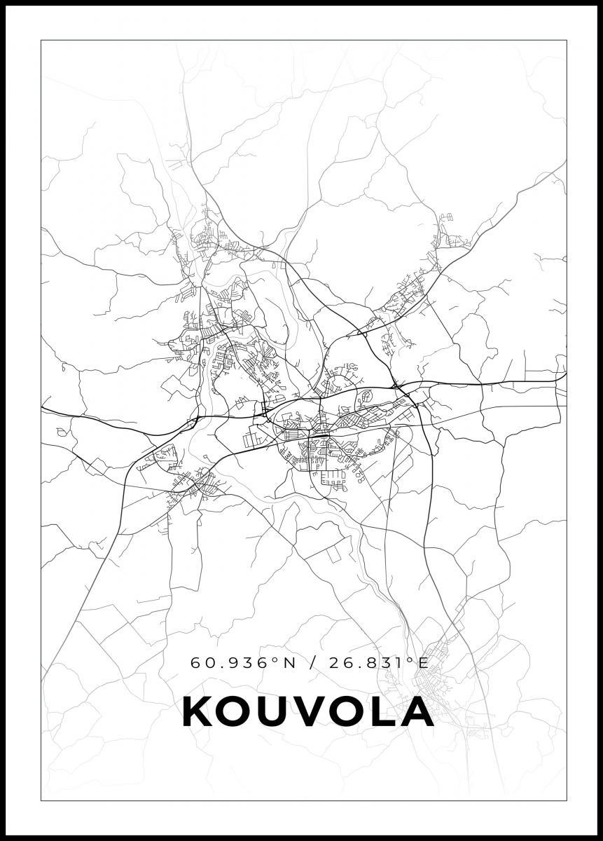 Kartta Kouvola Valkoinen Bga Fi