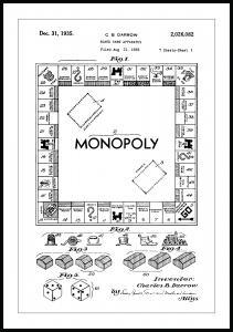 Patentti Piirustus - Monopoly I Juliste