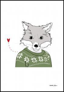 Furry-Fox Juliste