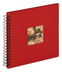 Fun Kierrealbumi Punainen - 26x25 cm (40 Mustaa sivua / 20 lehteä)