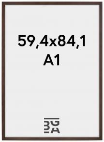 Kehys Stilren Akryylilasi Saksanpähkinä 59,4x84 cm (A1)