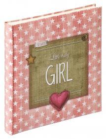 Little Baby Girl Vaalenpunainen - 28x30,5 cm (50 Valkoista sivua / 25 lehteä)