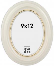 Eiri Mozart Ovaali Valkoinen 9x12 cm