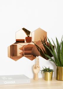 KAILA Peili Hexagon Rose Gold 18x21 cm - 5-pakkaus