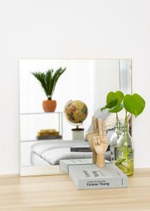 KAILA Square Mirror - Thin Brass 60x60 cm