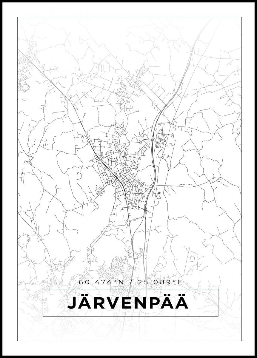 Kartta Jarvenpaa Valkoinen Bga Fi