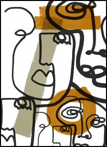 Graphic faces Juliste