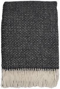 Torkkupeitto Shetland - Musta/Valkoinen 130x170 cm