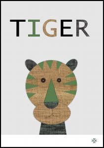Fabric tiger Juliste