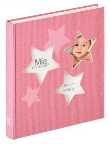 Estrella Vauva Vaaleanpunainen - 28x30,5 cm (50 Valkoista sivua / 25 lehteä)