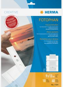 Herma Valokuvataskut 9x13 cm Vaaka - 10-pakkaus Valkoinen