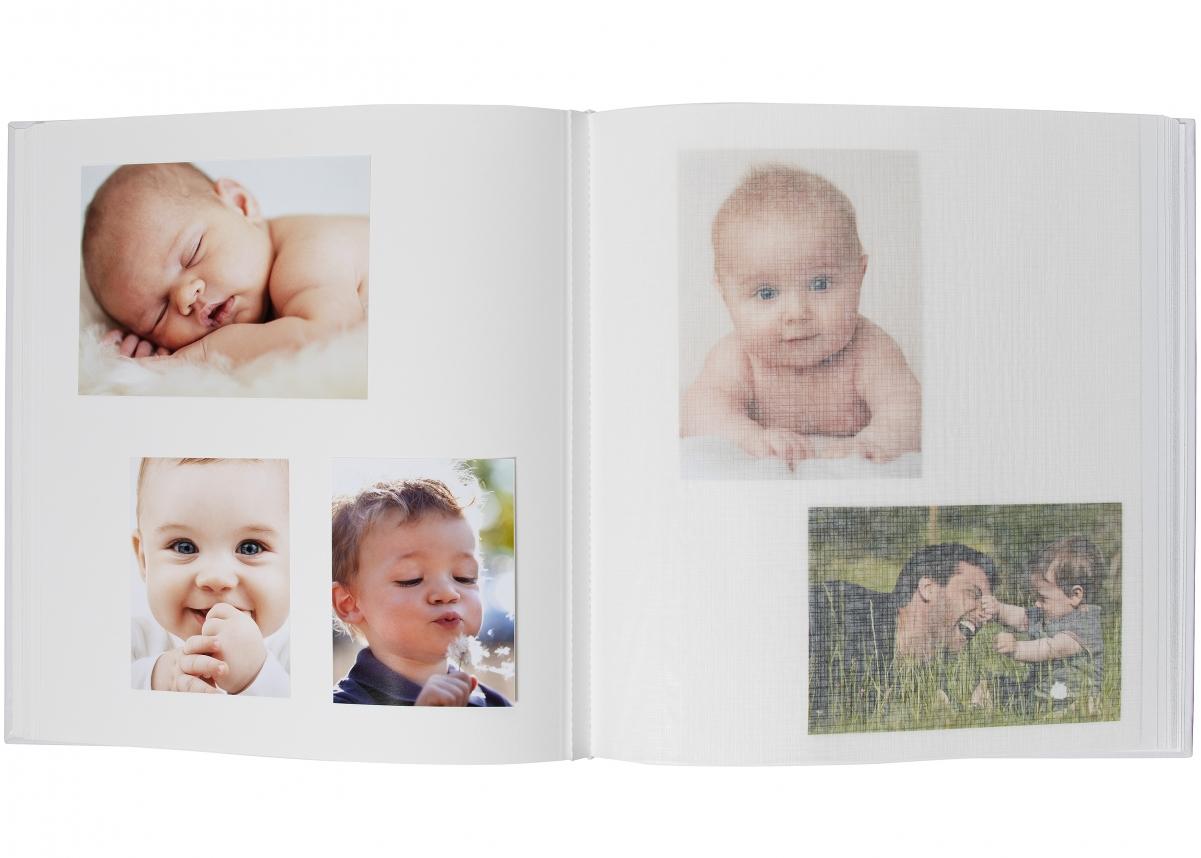 Lasten albumi Fe Skola - 28x30,5 cm (50 Valkoista sivua / 25 lehteä)