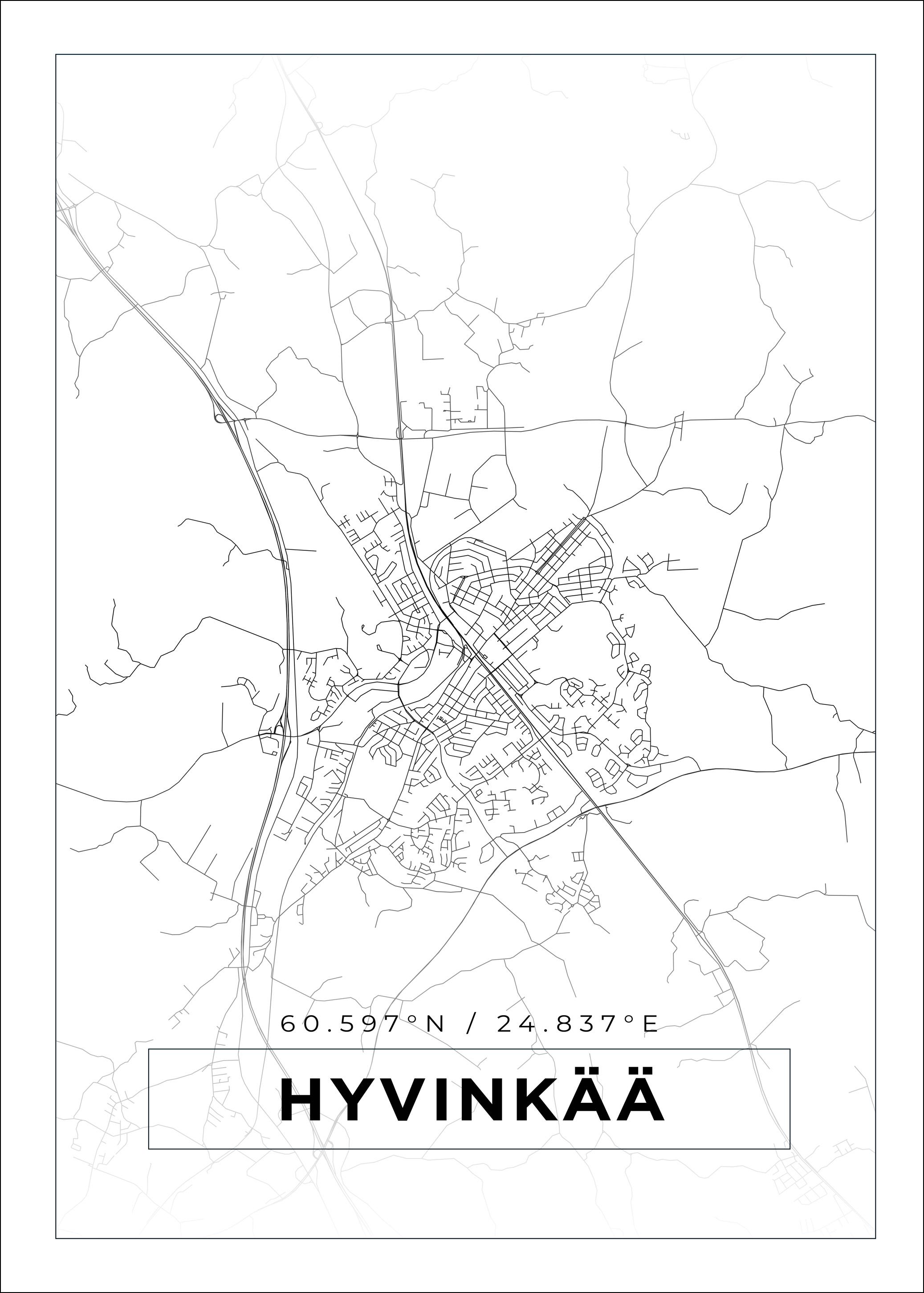 Kartta Hyvinkaa Valkoinen Bga Fi