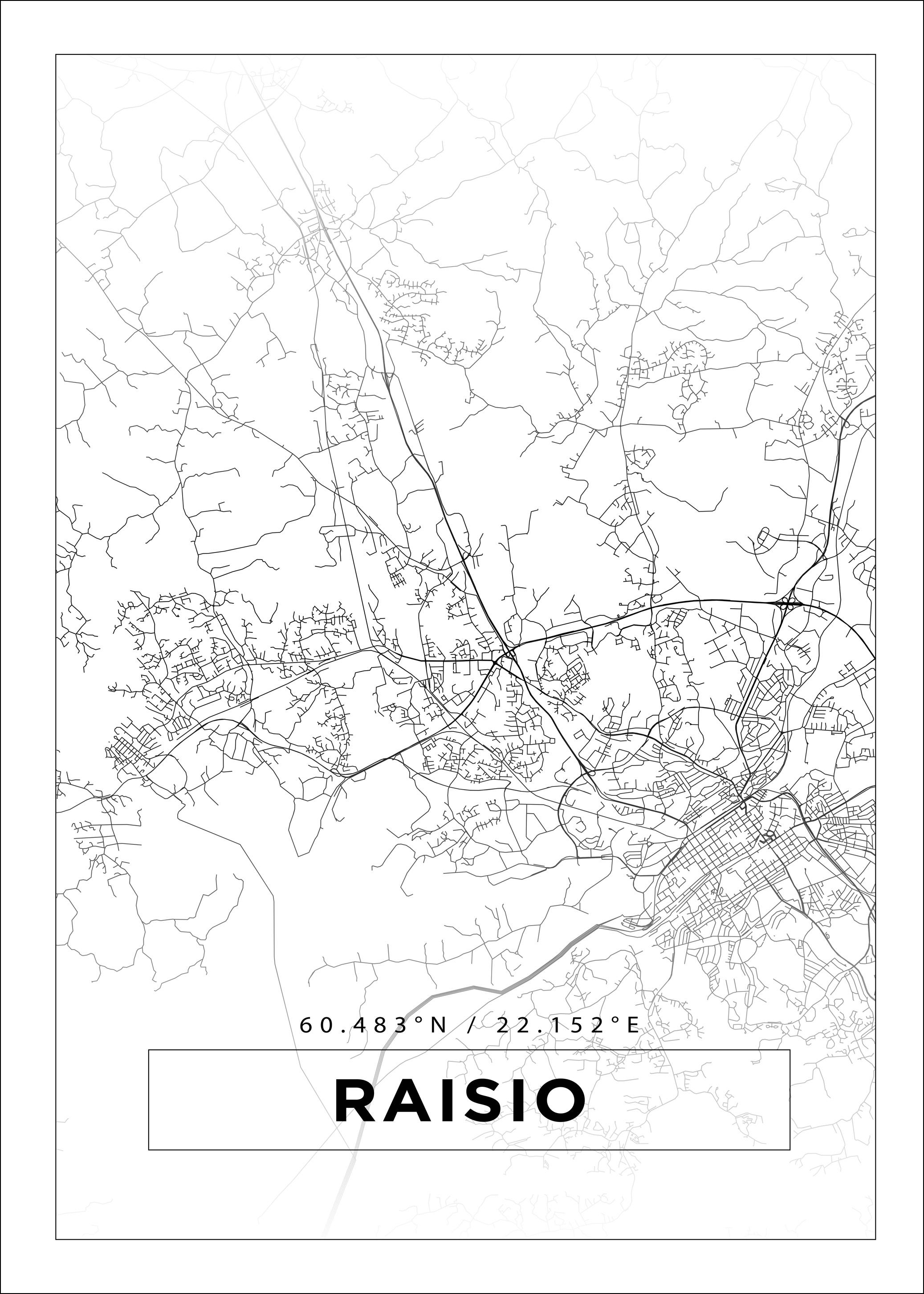 Kartta Raisio Valkoinen Bga Fi