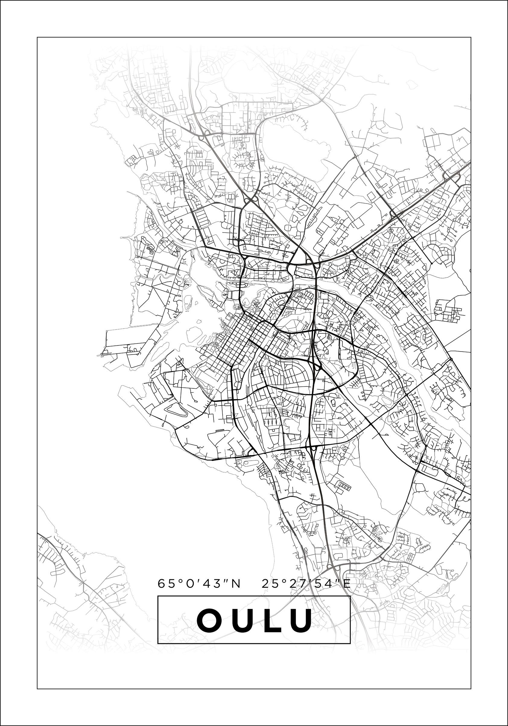 Kartta Oulu Valkoinen Bga Fi