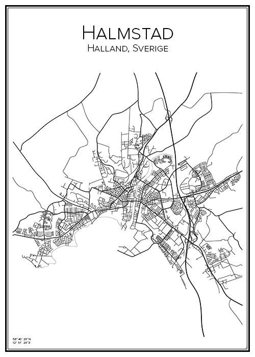Kartta Halmstad Bga Fi