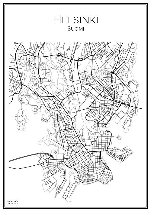 Kartta Helsinki Helsingfors Bga Fi