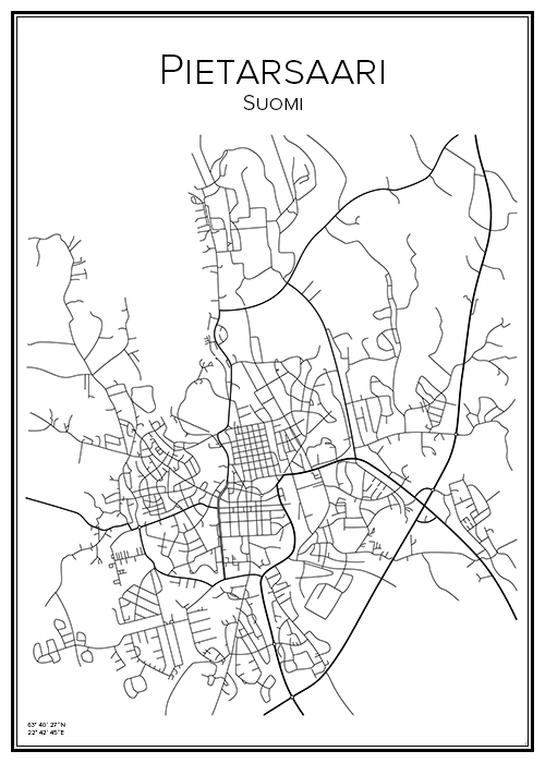Kartta Pietarsaari Jakobstad Bga Fi