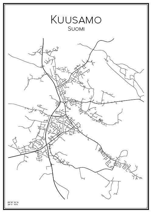 Kartta Kuusamo Bga Fi