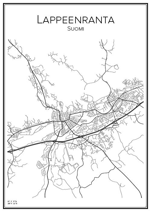 Kartta Lappeenranta Villmanstrand Bga Fi
