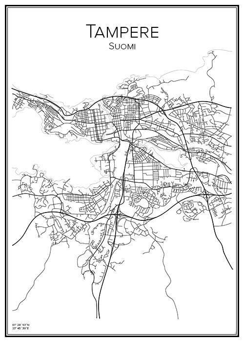 Kartta Tampere Tammerfors Bga Fi